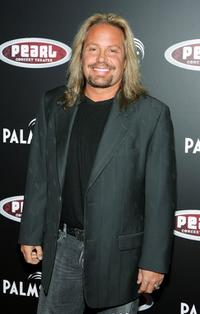Vince Neil at the Gwen Stefani concert serving as the grand opening of the Pearl concert theater.