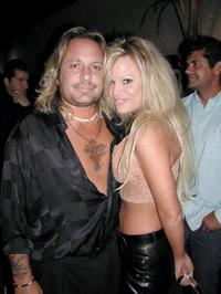 Vince Neil and Lie Geradini at the Angelica Bridges Playboy Party Celebration.