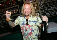 Vince Neil at the tasting of Neil's Vince Vineyards wines.