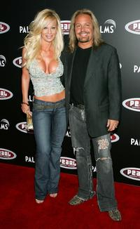 Lia Neil and Vince Neil at the Gwen Stefani concert serving as the grand opening of the Pearl concert theater.