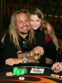 Vince Neil and Sunny Lane at the Vince Neil's 2nd Annual Off The Strip Poker Tournament.