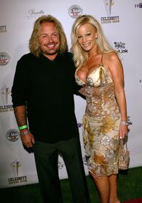 Vince Neil and his wife Lia Gerardini at the Celebrity Lock Room presents