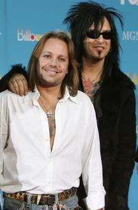 Vince Neil and Nikki at the 2004 Billboard Music Awards.