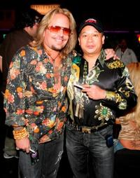 Vince Neil and Johnny Chan at the inaugural Vince Neil