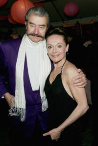 Leroy Neiman and Christine Dakin at the Martha Graham Dance Company opening night gala silent auction and dinner.