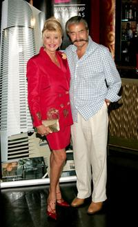 Ivana Trump and Leroy Neiman at the event announcing plans for the Ivana Trump Las Vegas.
