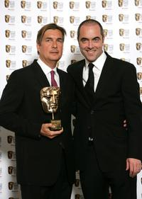 Producer Andy Harries and James Nesbitt at the British Academy Television Awards.
