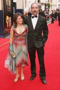 Sonia Forbes-Adam and James Nesbitt at the Pioneer British Academy Television Awards.