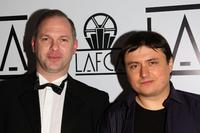 Vlad Ivanov and director Cristian Mungiu at the 2007 LA Film Critic's Choice Awards.