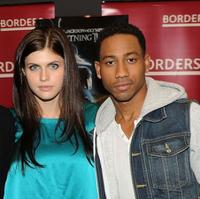 Alexandra Daddario and Brandon T. Jackson at the promotion of