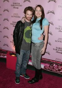 Seth Green and Clare Grant at the launch of Tarina Tarantino's new cosmetics collection