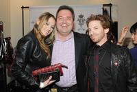 Clare Grant, Scott Mendelson and Seth Green at the American Music Awards Luxury Lounge.