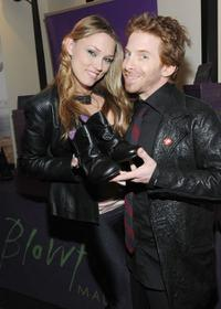 Clare Grant and Seth Green at the American Music Awards Luxury Lounge.