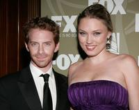 Seth Green and Clare Grant at the FOX Emmy party.