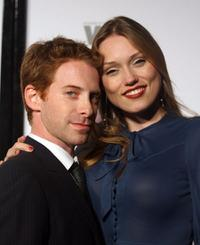 Seth Green and Clare Grant at the Entertainment Weekly And Women In Film's Pre-Emmy party.