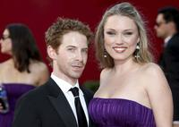 Seth Green and Clare Grant at the 61st Primetime Emmy Awards.