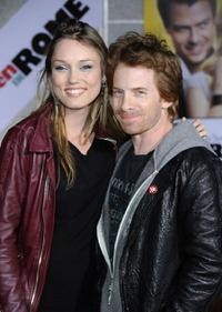 Clare Grant and Seth Green at the premiere of