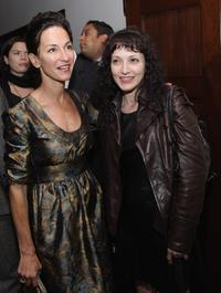 Bebe Neuwirth and Cynthia Rowley at the after-party of