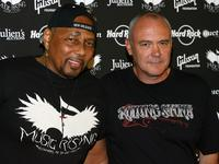 Aaron Neville and Hamish Dodds at the Icons of Music II Auction.