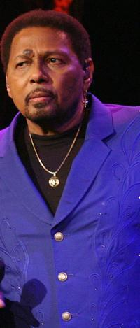 Aaron Neville on the sets of