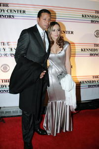 Actors Terrence Howard and Zulay Henao at the 30th Annual Kennedy Center Honors in Washington.