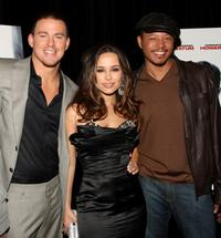 Channing Tatum, Zulay Henao and Terrence Howard at the premiere of