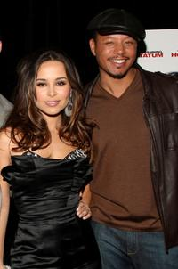 Zulay Henao and Terrence Howard at the premiere of
