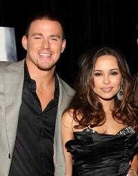 Channing Tatum and Zulay Henao at the premiere of