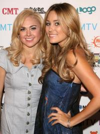Laura Bell Bundy and Lauren Conrad at the MTV Networks Upfront.