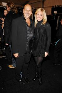 Carmen Marc Valvo and Laura Bell Bundy at the Mercedes-Benz Fashion Week Fall 2008.