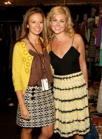 Michelle Smith and Laura Bell Bundy at the Mercedes-Benz Fashion Week.
