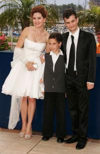 Limor Goldstein, Yonathan Alster and Michael Moshonov at the photocall of
