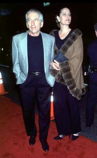Barry Newman and his wife at the Los Angeles premiere of