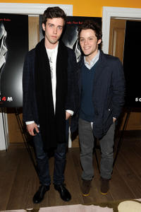 James Newman and guest at the New York premiere of