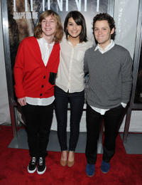 Danny Flaherty, Sofia Black-D'Elia and James Newman at the New York screening of