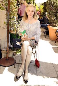 Julie Newmar at the Day 1 of 2008 DPA Garden party Gift Suite in California.