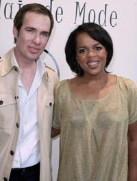 Marc Callo and Paula Newsome at the Mercedes Benz Fashion Show.