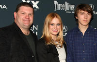 Daniel Stewart Sherman, Leven Rambin and Paul Dano at the premiere of