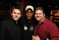Rob Devaney, Danny Glover and Daniel Stewart Sherman at the after party of the of the documentary of