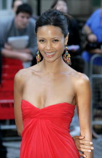 "Thandie Newton at the UK premiere of ""Volver"" in London, England."