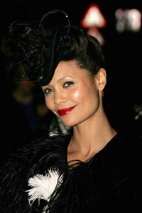 Thandie Newton at Sam Taylor-Wood's birthday in London England.