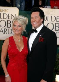 Wayne Newton and his Kathleen at the 62nd Annual Golden Globe Awards.