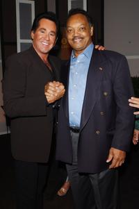 Wayne Newton and Reverend Jesse Jackson at the VH1 Divas Las Vegas a concert to benefit the VH1 Save the Music Foundation.