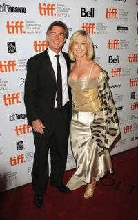 John Easterling and Olivia Newton-John at the 35th Toronto International Film Festival.