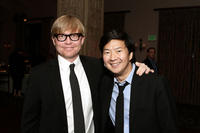 Mike O'Connell and Ken Jeong at the 4th Annual Comedy Celebration in California.