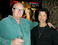 Rowan Woods and Dustin Nguyen at the premiere of