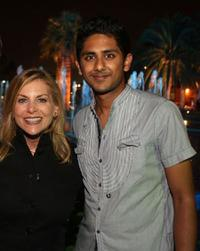 Dawn Ostroff and Adhir Kalyan at the CW Television Critics Association Press Tour party.