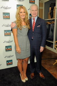 Danielle DeZao and Tim Gunn at the iPhone App Launch of