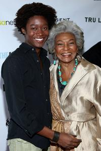Matthew Thompson and Nichelle Nichols at the premiere of