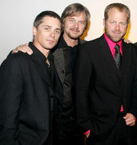 Billy Warlock, Stephen Nichols and Kin Shriner at the pre-party event to benefit St. Jude Children's Research Hospital in New York.